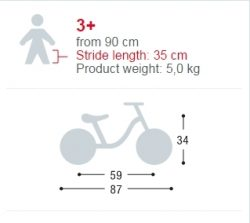 Bicicleta fara pedale - Puky-4003