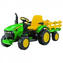 Tractor, JD Ground Force, Peg Perego, WTrailer